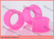 Hot wholesale cheap silicone ear tunnels earring for women piercing body jewelry
