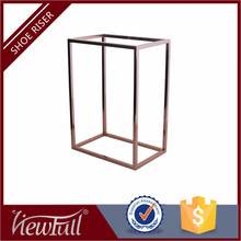 wholesale gold cube metal shoe riser display stand