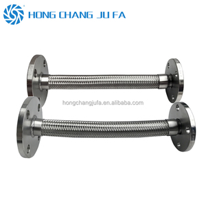 Pipeline use flange braided stainless steel corrugated pipe metal flexible hose