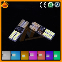 Wholesale Novelty Red Canbus 24SMD 4014 car light t10