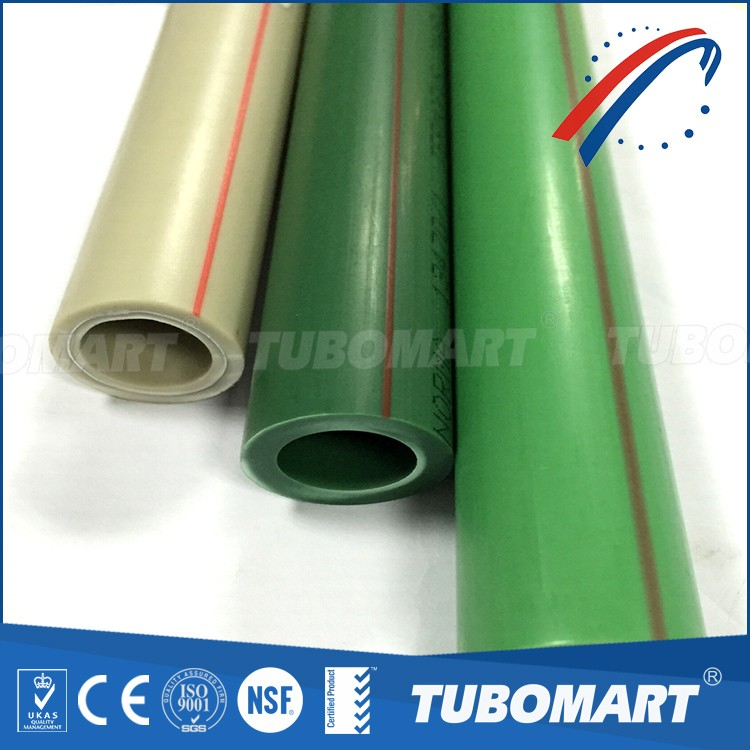 Din standard hot cold water supply plumbing material composite PPR pipes