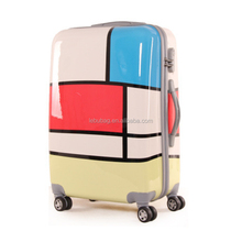Guangzhou OEM Factory Full Printed PC Trolley Luggage Cabin Travel Case 20/24/28 Inches Flying Suitcase 3 Pieces Set Trolley