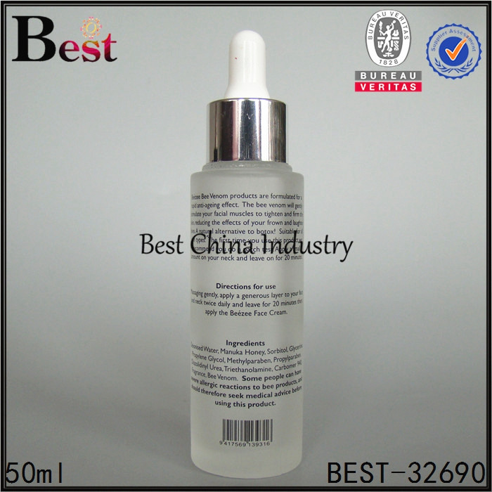 alibaba china screen printing 50ml cosmetic lotion essential oil perfume glass dropper bottle wholesale