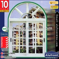 Australia AS2047 modern design aluminum sliding windows /pvc arch window commercial design