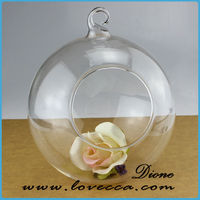glass terrarium decoration ,hanging glass terrarium ornament ,clear glass terrarium globe