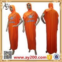 Wholesale muslim dress loose casual dress Arab robes
