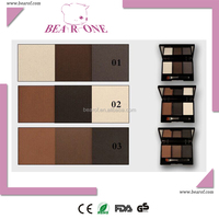Eyebrow kit for three colors eyebrow powder with brush