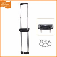 Guangzhou JingXiang Detachable Aluminum Metal Trolley Handle Telescopic Luggage Foldable Handle For Soft Luggage Bag