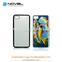 2015 Promotion 2D Sublimation Rubber Phone Case For Black Berry Z10