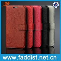 For samsung galaxy s6 edge case Lychee pattern Genuine leather case for s6 edge