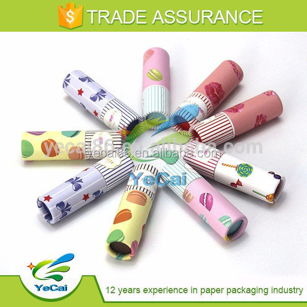 round cardboard tube paper tube for lip balm