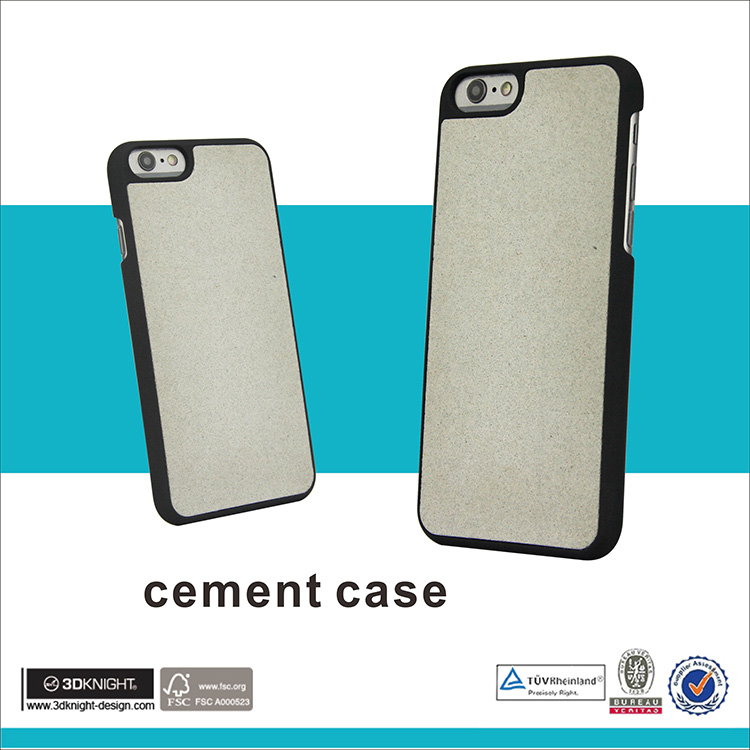 Unique design concrete cement phone case for iphone 7