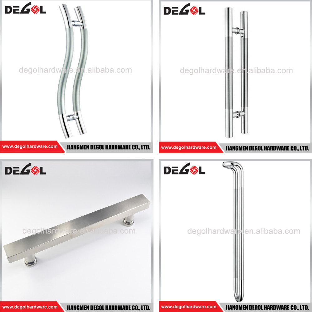 China manufacturer stainless steel industrial hollow entrance gate glass big door pull
