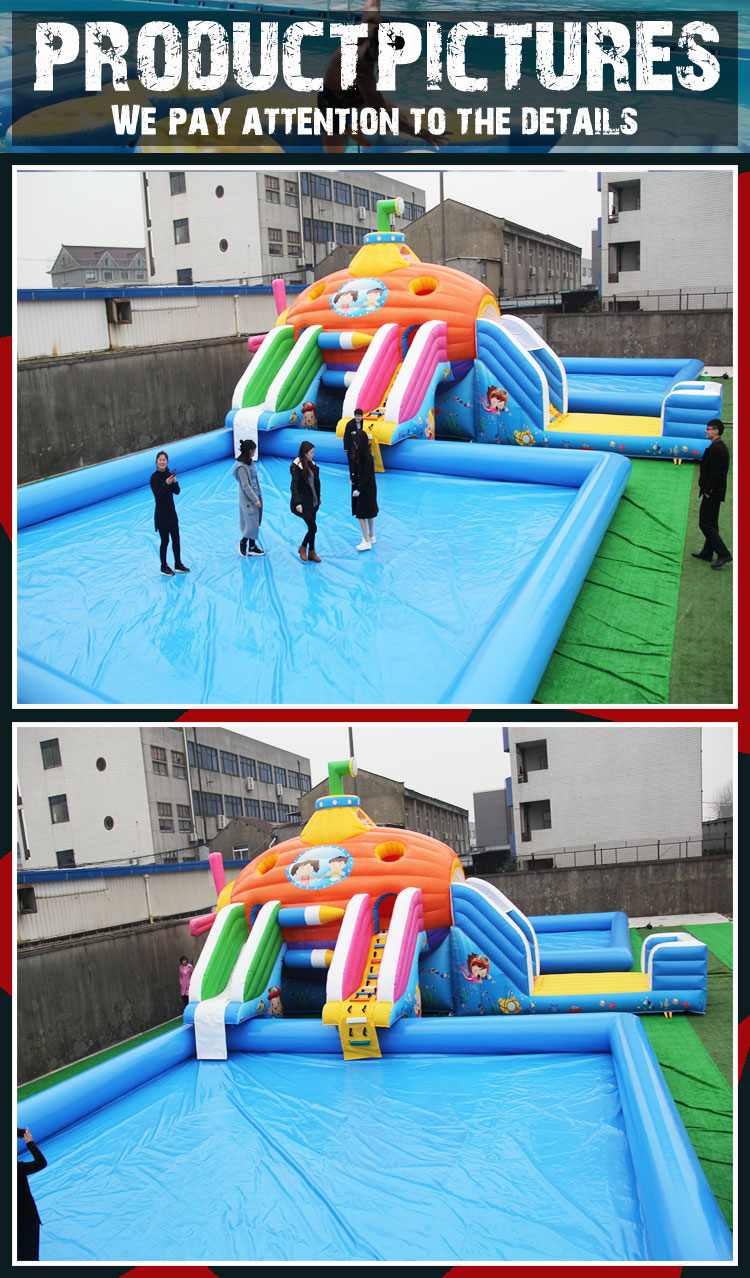 new design CE cheap inflatable water park games