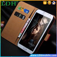 Retro Luxury Genuine Real Leather Case for Galaxy Note2 II N7100 Wallet Stand Flip Vintage Accessories Bags for Samsung note 2