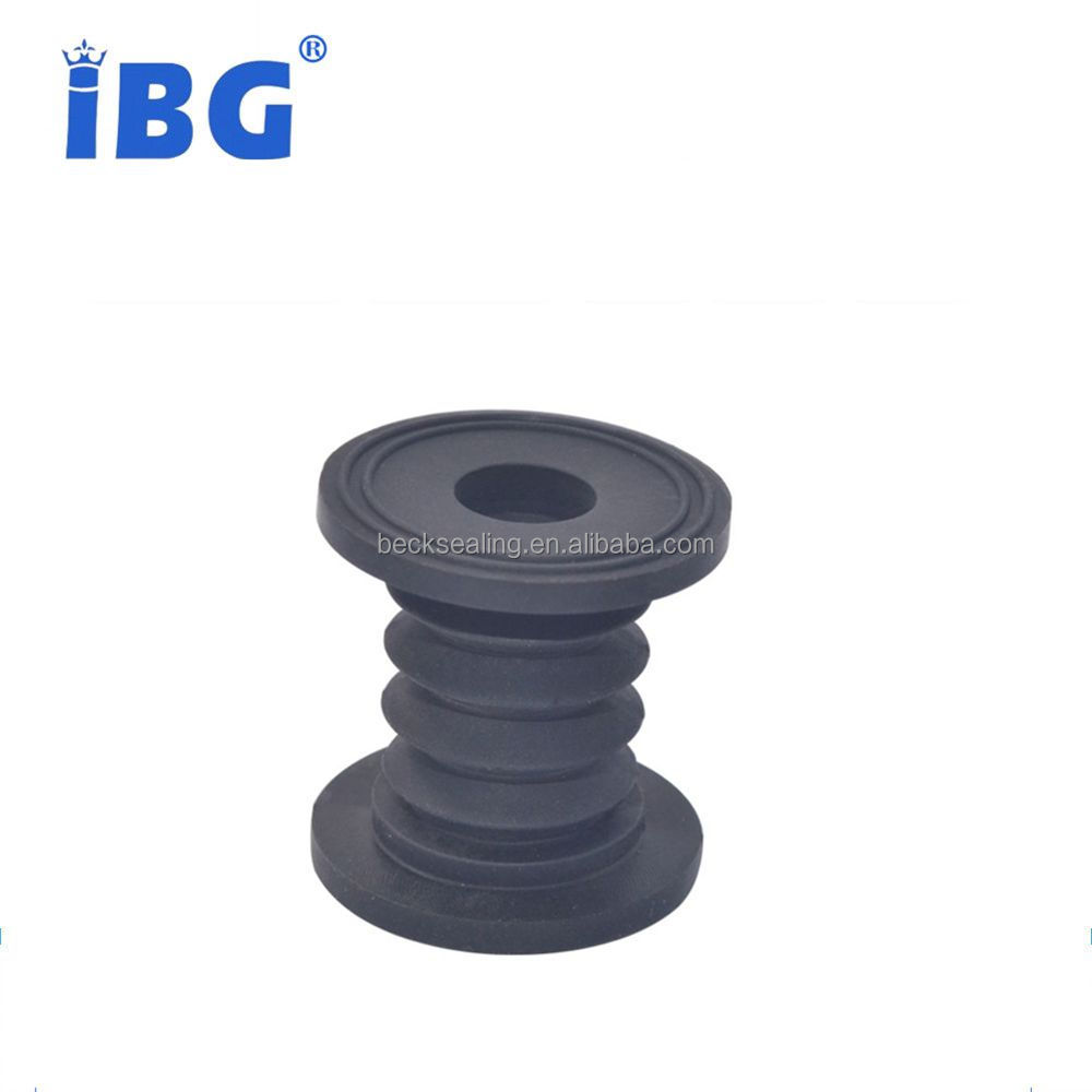 Custom Molded NBR/SIL Flexible Corrugated Rubber Bellows with Flange