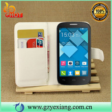 Hot Selling Leather Flip Case For Alcatel One Touch Pop C5 5036 Cover