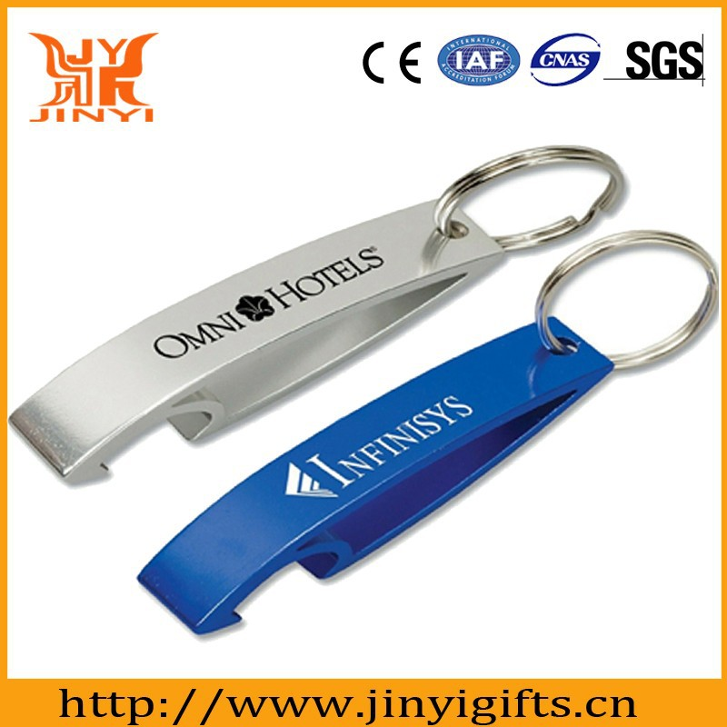 Promotional gifts aluminum made cheap bottle opener keyring
