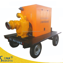 16 inch flow 1260 m3/h lift head 6.8m trailer movable diesel trash pump