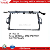 Hot selling metal body parts toyota corolla 07-12 radiator support for sale