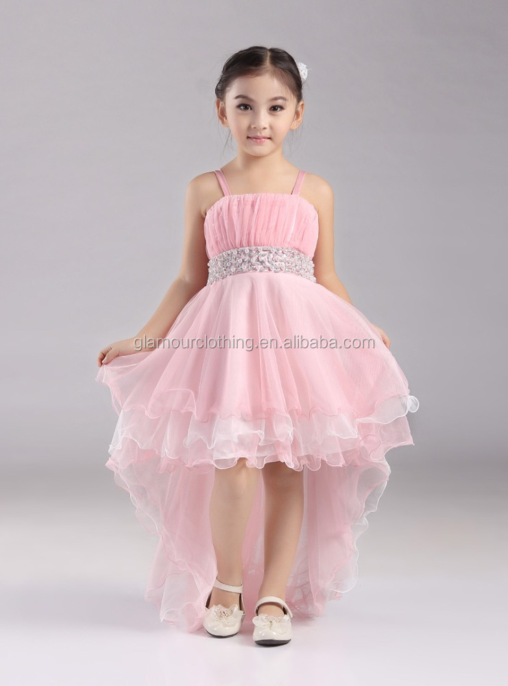 Manufacturer supply Modern design high quality low price beading flower girl dress