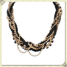 2015 latest gold chain designs chunky gold chain necklace multi layer gold long chain necklace designs (ZYN-038)
