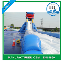 TUV certificate Commercial inflatable water slip giant inflatable water slide
