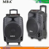 Big power 15 inch bass speaker with trolley wheels/Subwoofer speaker/Outdoor stage speaker