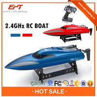 Top selling 2.4G 2CH small plastic remote control toy boat for sale