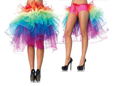 Walsonin styles cheap Sexy Girl's Rainbow Tail TUTU <strong>Skirt</strong> For Party Club Corset Basque Dress