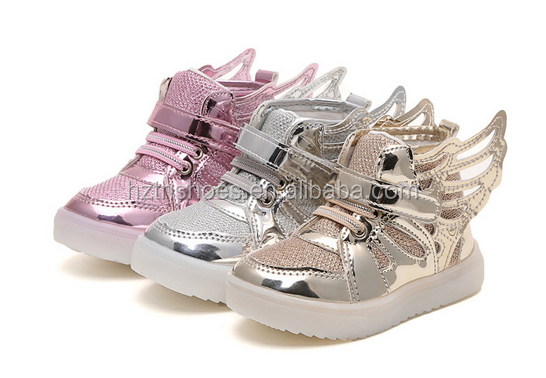 Wholesale Children Wing Shape Fashion Led Shoes Girls Kids Light up Shoes