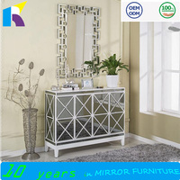 Livingroom furniture modern shoe cabinet with mirror for sale
