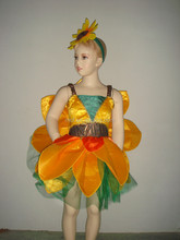 Halloween baby girl sun flower costume for children kids KC-0045