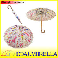 New idea Vintage Style Scrawl beautiful sex girl picture straight umbrella
