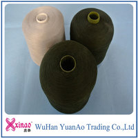 100% spun polyester colored yarn for sewing on alibaba shop