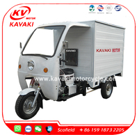Guangzhou good quality 3 wheels van cargo tricycle for food sale