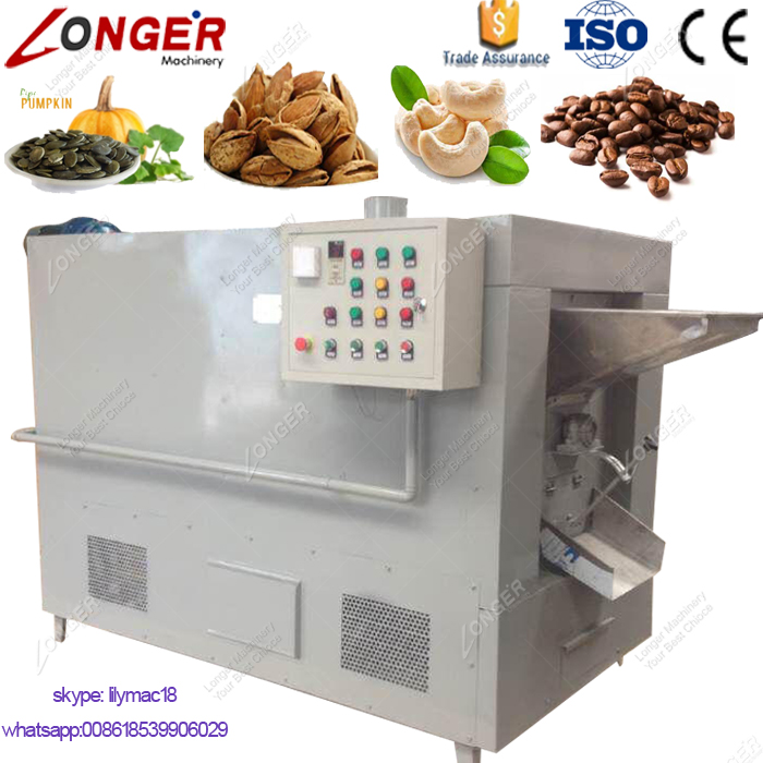 Industrial Peanut Roasting Machinery Price Drum Seeds Cocoa Bean Roaster