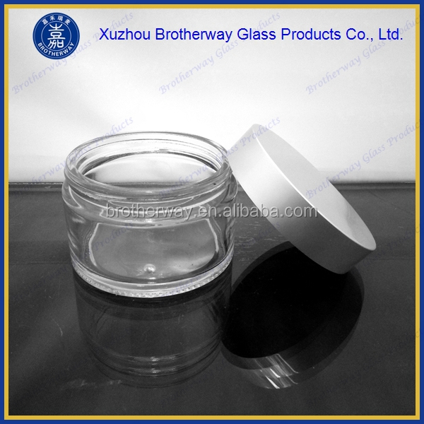 200ml wide mouth round glass body cream jar container