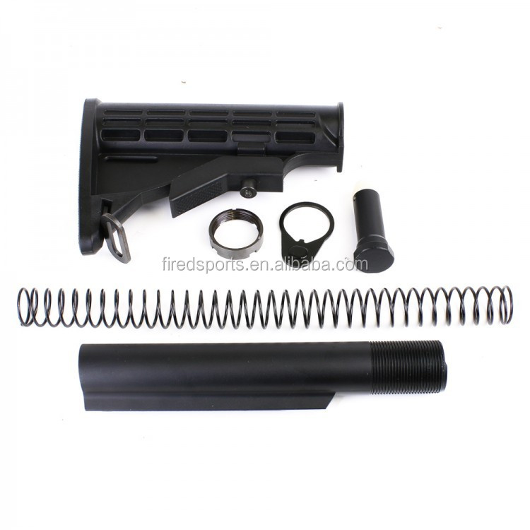 MTS2011-BS--AR-15 M4 MIL-SPEC Carbine Stock w/ 6 Position Buffer Tube Kit,3oz Carbine Buffer