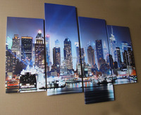 New York night view canvas prints modern painting for livng room