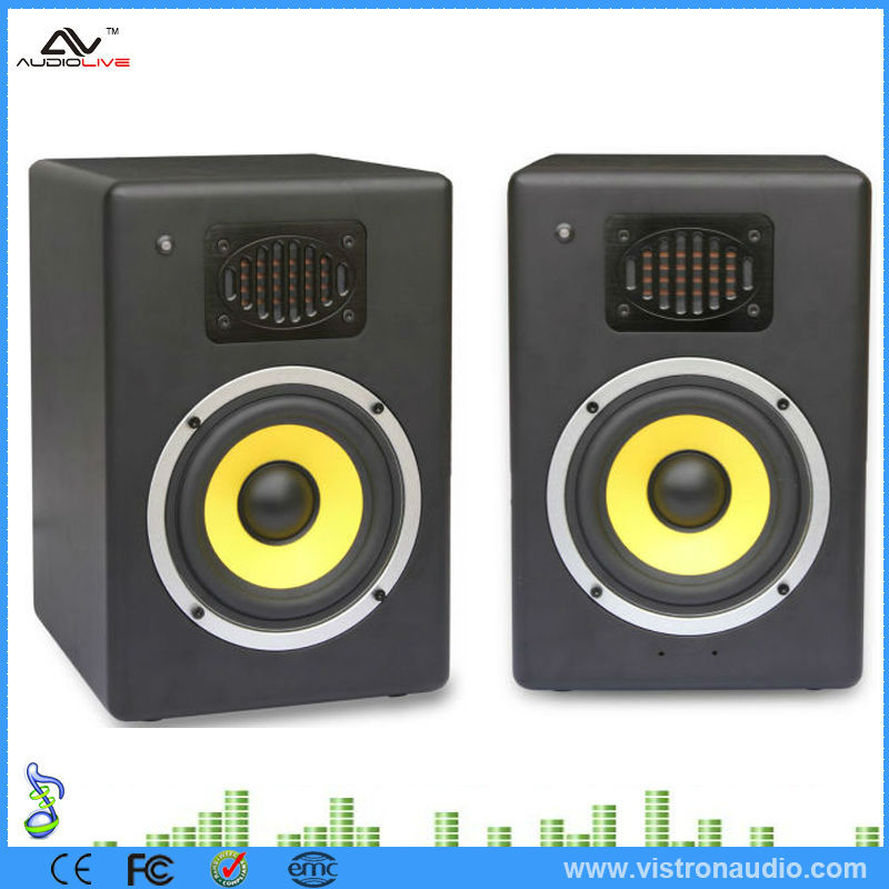 "5"" / 8"" / 10 inch Full Range 2.0 Active Amplified Audio Speaker Monitor Magnetic Speakers"