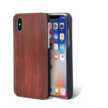 High-end custom design wooden cell phone case for iphone x case