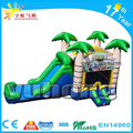 factory wholesale coconut tree jumper bouncer kids inflatable slide