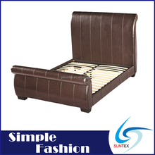Italian style king size leather bed frame luxury leather bed