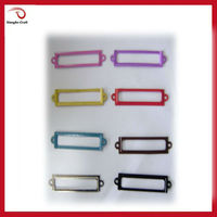 2015 new colorful metal label holder for scrapbooking
