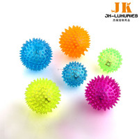 Eco-friendly pet toys for dog play ball with flashing LED light