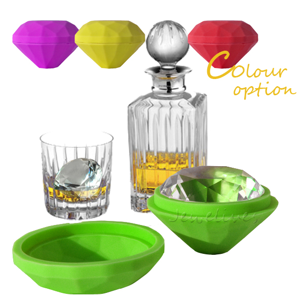 BPA FREE diamond shape custom silicone ice cube tray