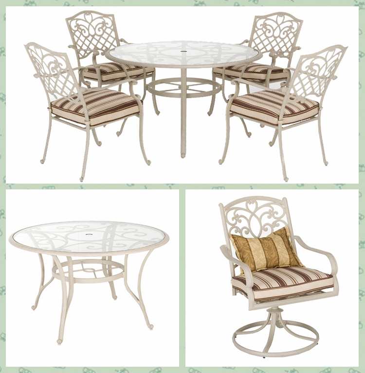 3 pcs outdoor balcony cast aluminum bistro set furniture