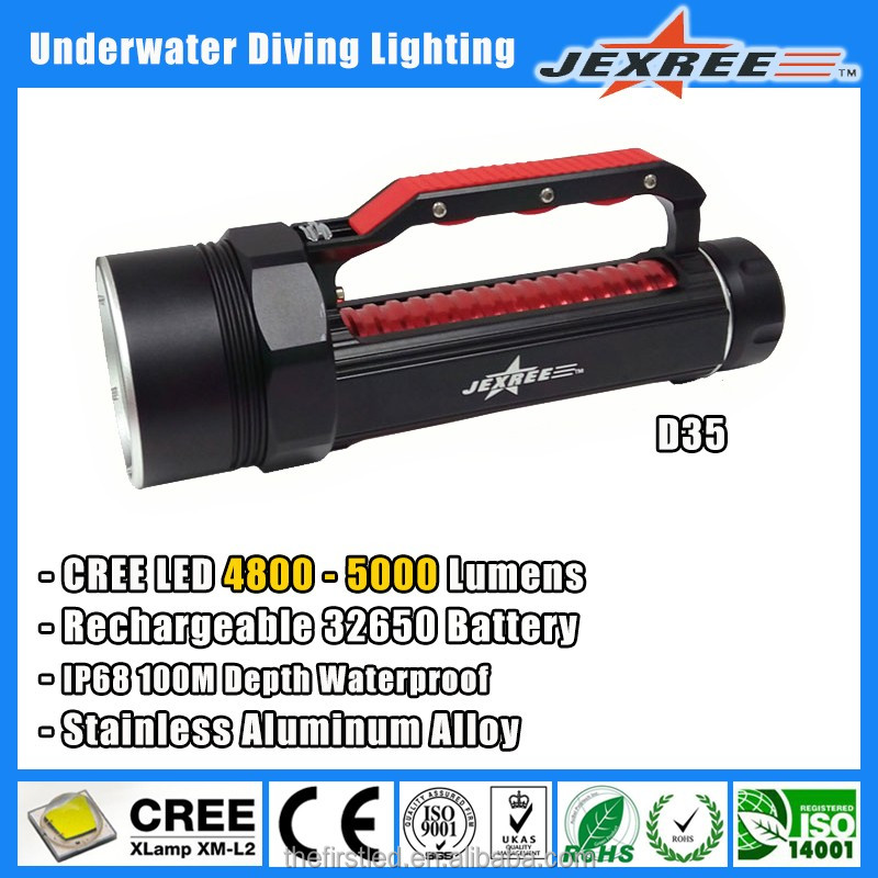 Jexree SJ-D35 underwater equipment,swimming accessories Led diving flashlight,military grade self defence weapon