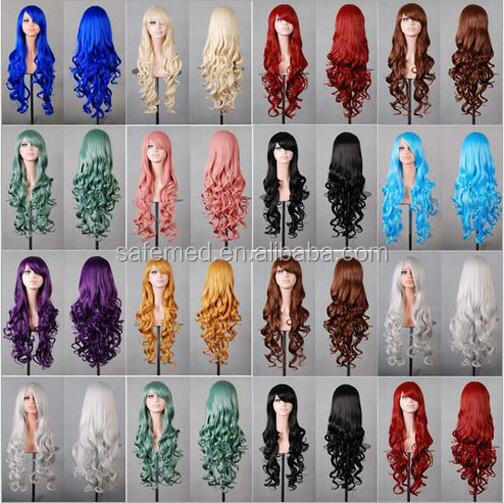 31.50'' Ladies Curly Wigs/Full Hair Waves Wigs Fancy Dress Party Costume Cosplay/Colorful curly wigs